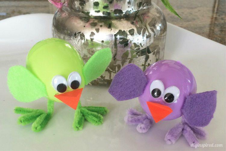 Plastic Easter Egg Chicks Craft