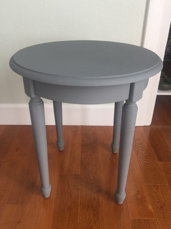 Side Table Makeover With Grey Paint