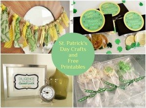 St. Patricks Day Crafts and Printables
