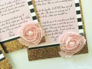 Thank You Cards DIY with Glitter and Flowers