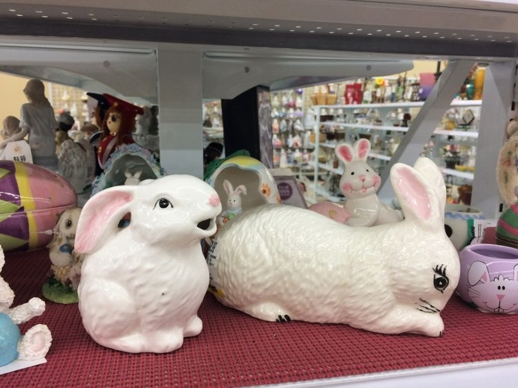 Thrift Store Easter Bunnies