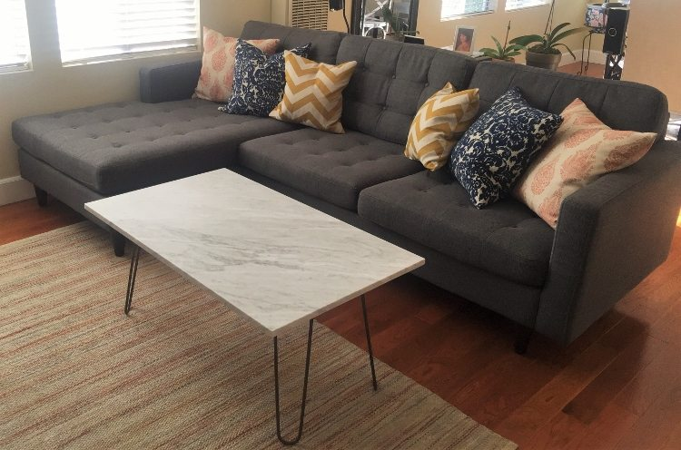 Upcycled Marble Coffee Table