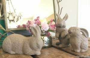 Upcycled Thrift Store Easter Bunny Decor