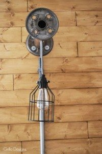 DIY INDUSTRIAL BOBBIN HANGING LIGHT