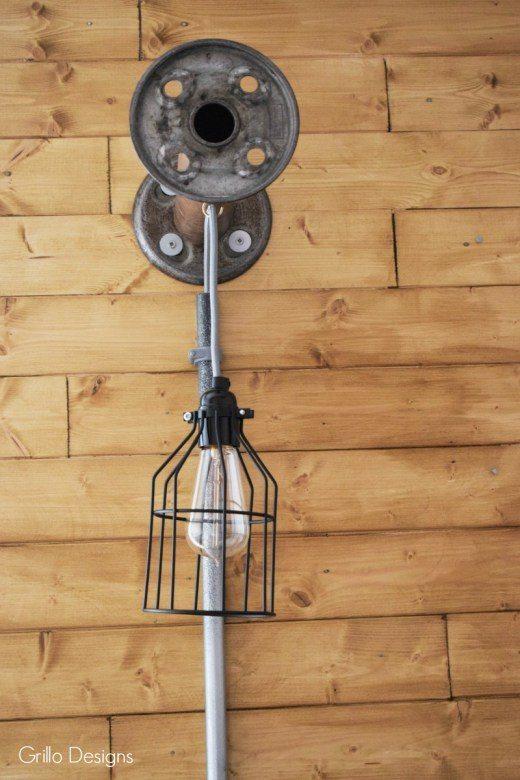 DIY INDUSTRIAL BOBBIN HANGING LIGHT