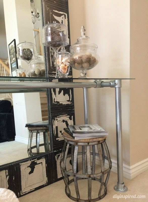 DIY Industrial Console Table (10)