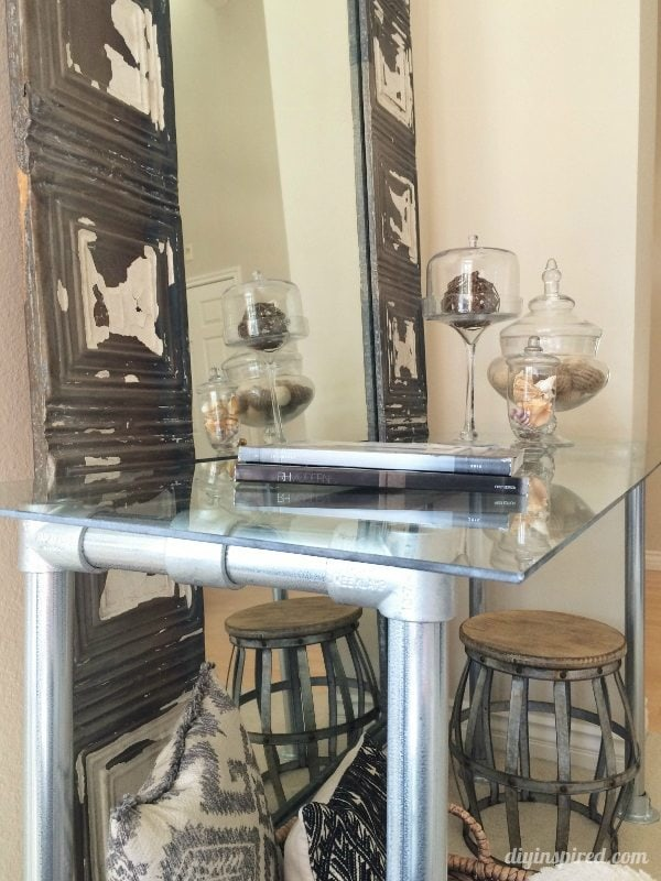 DIY Industrial Console Table (8)