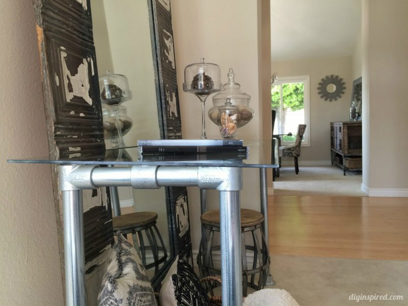 diy industrial console table 9