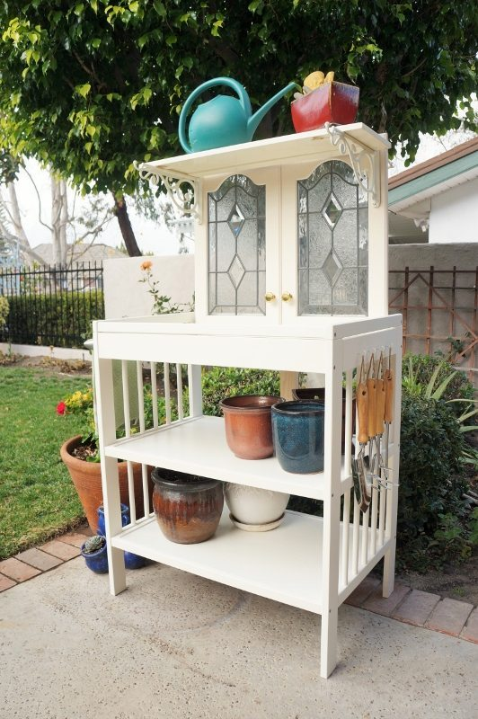 Repurposed Changing Table to Potting Bench (1)