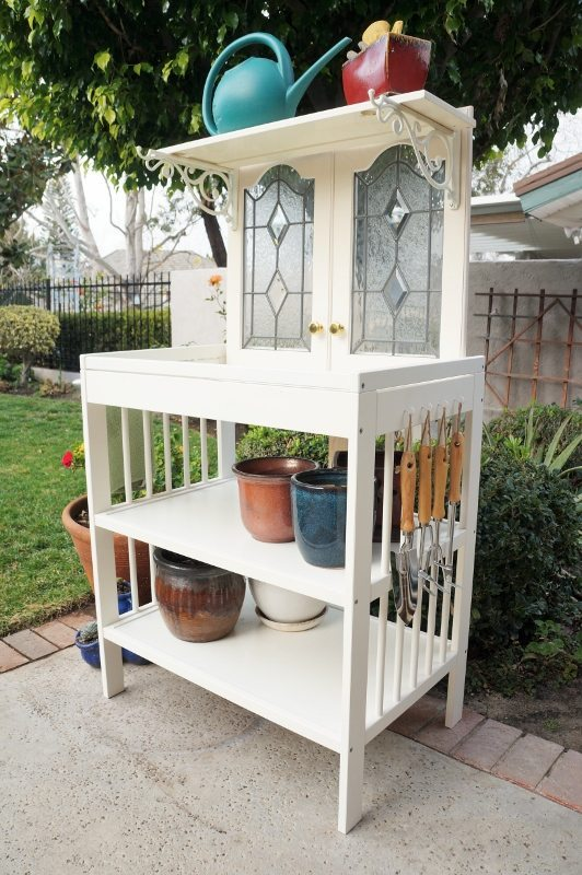 Repurposed Changing Table to Potting Bench (3)