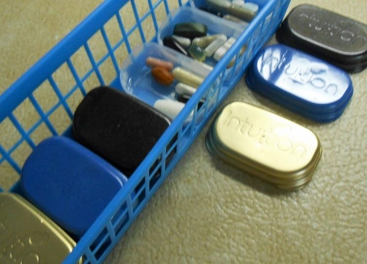 Upcycled Razor Boxes turned Pill Boxes