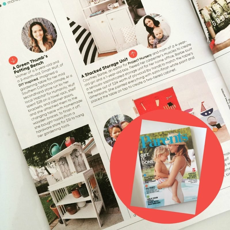 DIY Inspired feature in Parents Magazine May 2016 Issue - Dinah Wulf