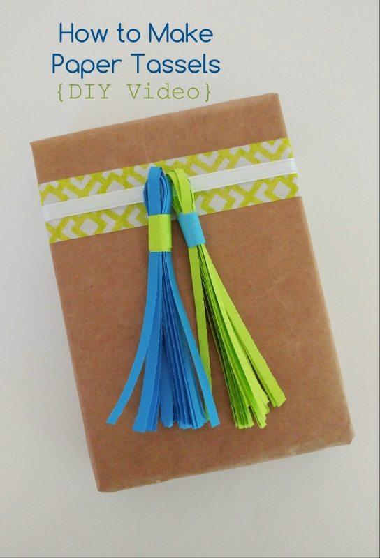 DIY Video How to Make Easy Paper Tassels