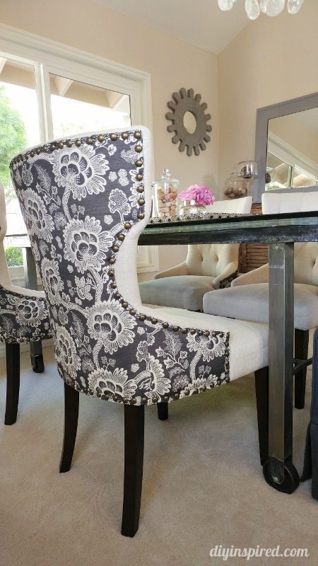 Dining Room Floral Upholstered Chairs