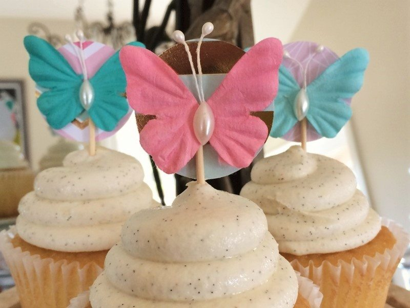 Easy Butterfly Cupcake Toppers for a Birthday
