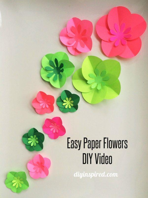 Easy Paper Flowers DIY Video - DIY Inspired