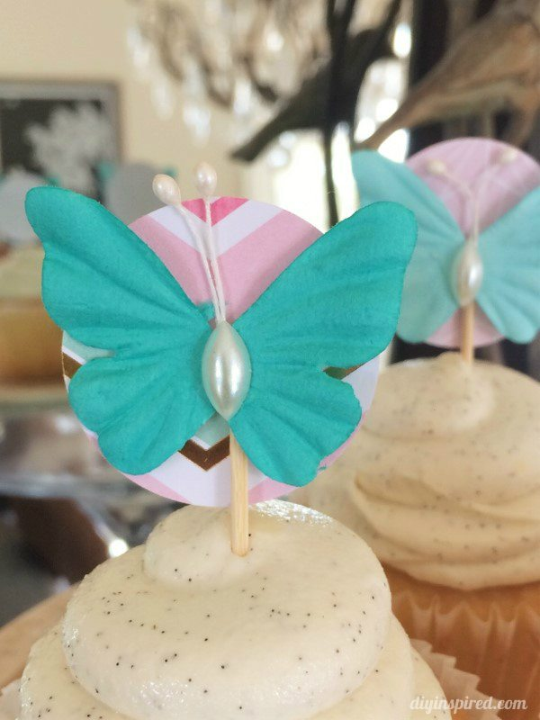 Easy Pastel Butterfly Cupcake Toppers