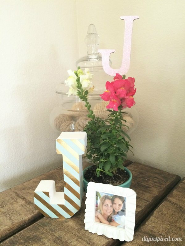 Flower Centerpieces with Monogram for 40th
