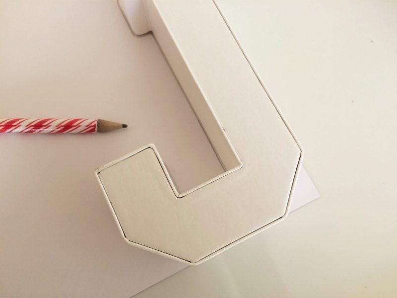 Monogrammed Letters Centerpieces