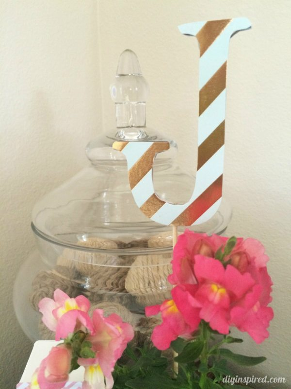 Snap Dragon Flower Centerpieces with Monogram