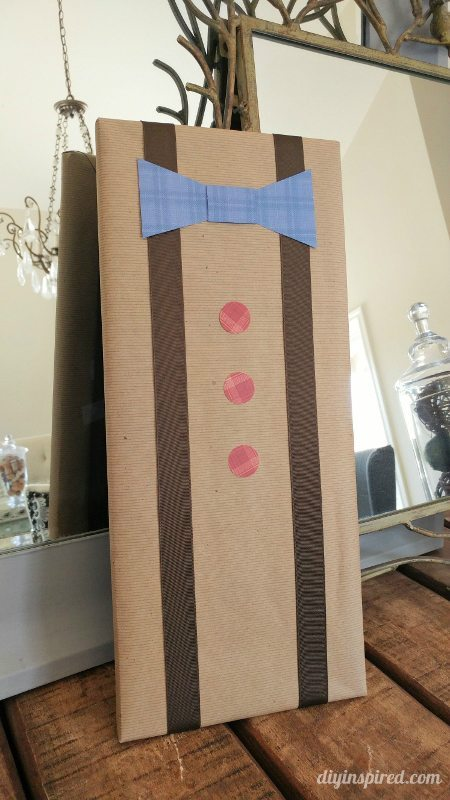 DIY Father's Day Gift Wrapping - DIY Inspired