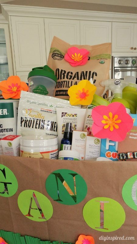 DIY Organic Gift Basket - School Auction Basket Idea