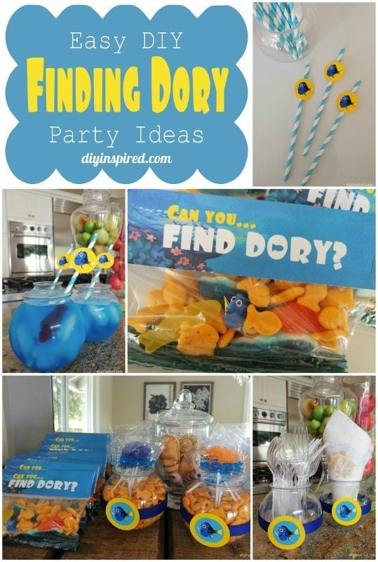 Easy DIY Finding Dory Party Ideas -DIYInspired