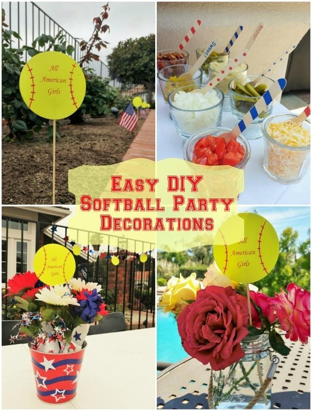 Easy diy softball party decorations inspired