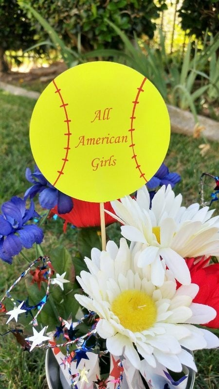 Easy DIY Softball Party Decorations