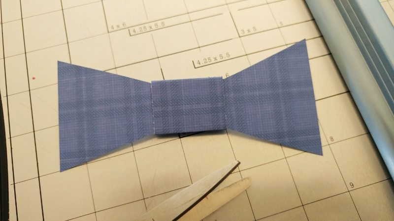 Father's Day Gift Wrapping Bow Tie Paper Craft
