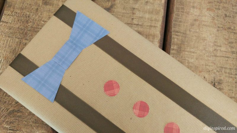 Father's Day Gift Wrapping with Bow Tie and Suspenders