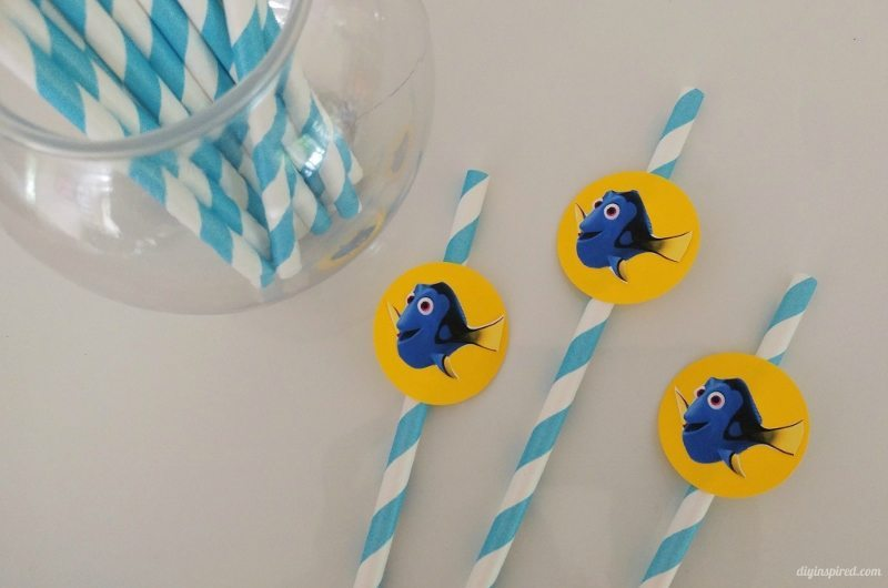 Finding Dory DIY Straws