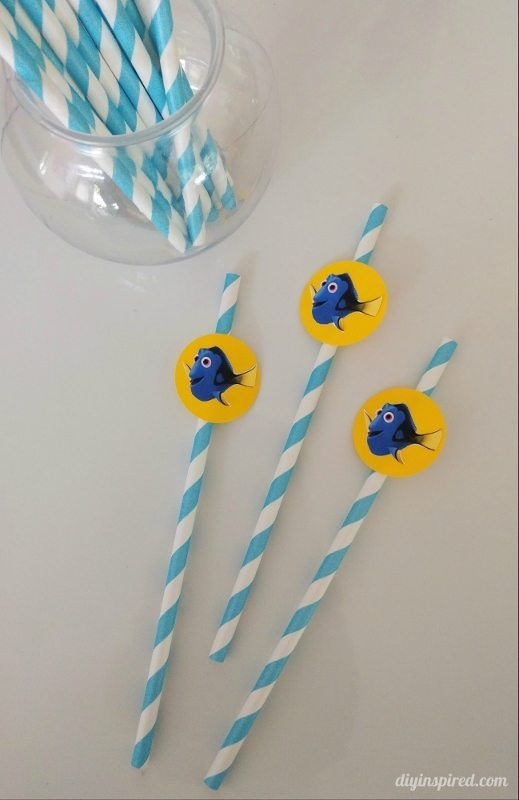Finding Dory Party Drinking Straws