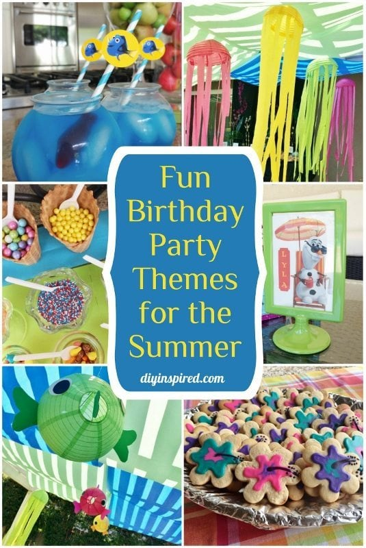 birthday party themes for the summer diy inspired