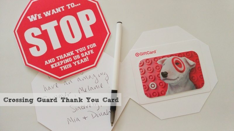 Crossing Guard Thank You Card Diy Inspired