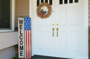 DIY American Flag Front Door Sign