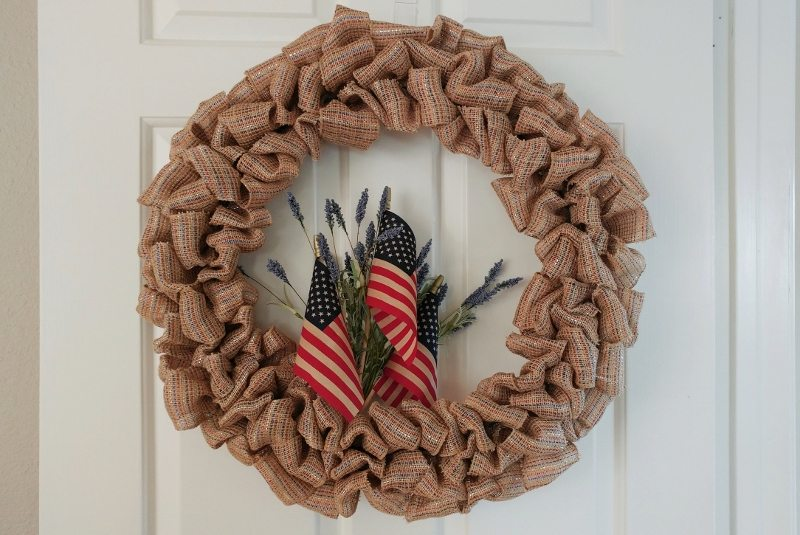 DIY Fourth of July Ribbon Wreath Tutorial