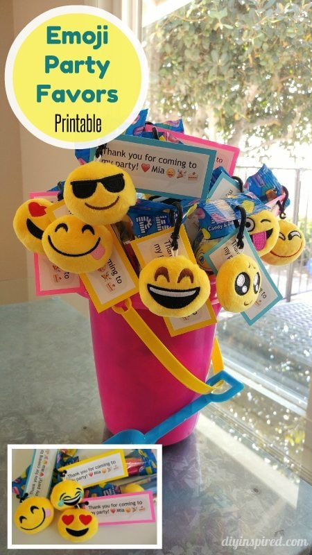 Emoji Party Favors with FREE Printable - DIY Inspired