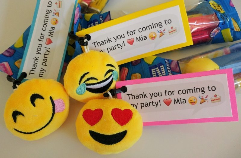 Emoji Party Favors with Prinable Tags