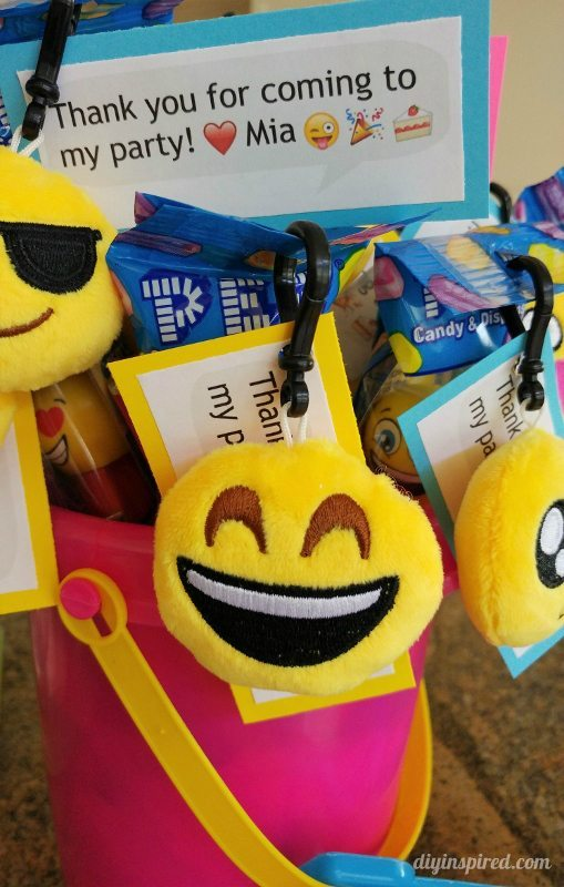 Emoji Swimming Birthday Party Favors