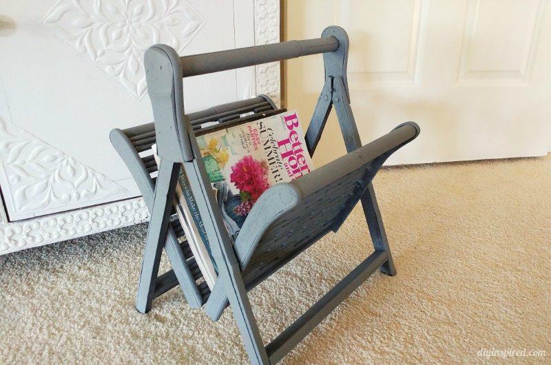 Preferred Thrift Store Magazine Rack Upcycle - DIY Inspired CK37