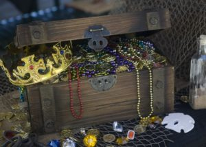 Pirate Party Decorating Ideas  - Treasure Chest
