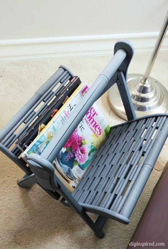 Spray Painted Magazine Rack - DIY Inspired