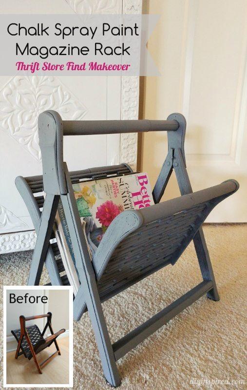 Upcycled Thrift Store Magazine Rack - DIY Inspired