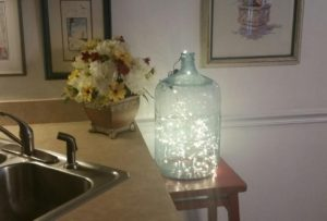 Upcycling an Old Glass Water Bottle