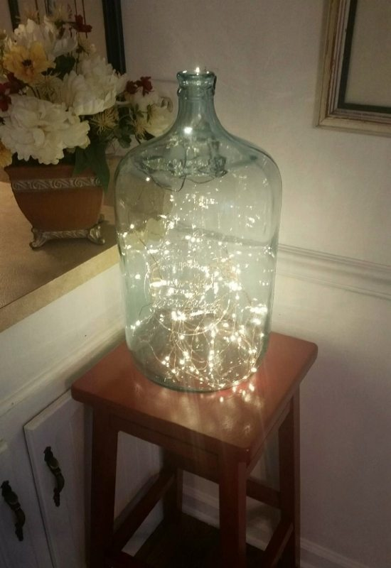 Upcycling an Old Glass Water Bottle - DIY Inspired