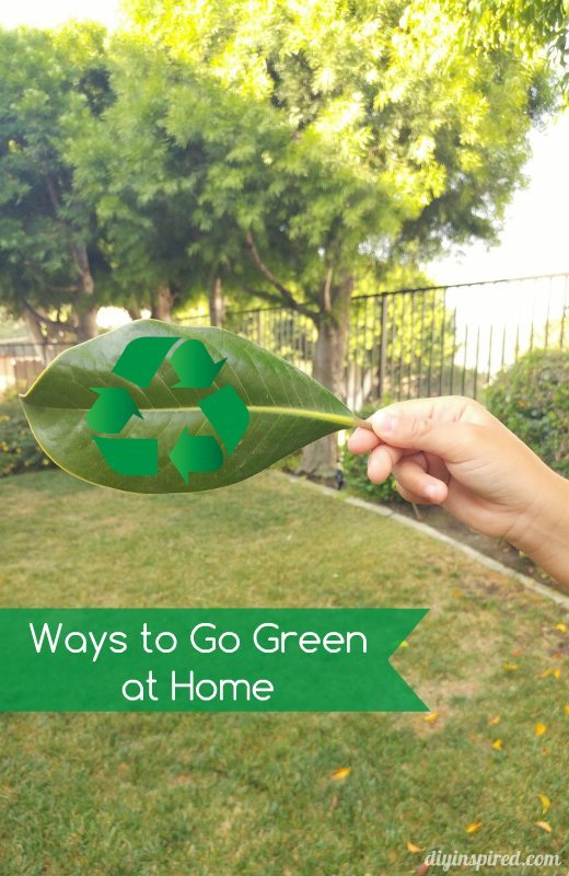 Ways to Go Green at Home - DIY Inspired