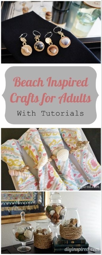 3 Beach Inspired Crafts for Adults with Tutorials - DIY Inspired