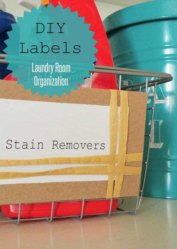 DIY Laundry Room Labels - DIY Inspired