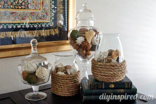 DIY Rope Vase
